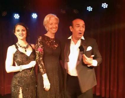 Christine Lagarde bailo tango